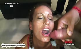 Hot brunette nympho and blonde bombshell pleasuring our big cocks