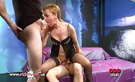 German Mom loves Double Penetration - German Goo Girls