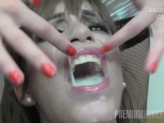 Premium Bukkake - Silvana sucks 65 enormous mouthful cumshots