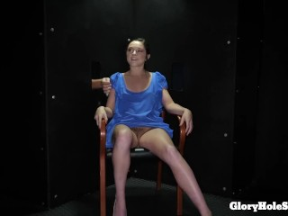 Petra Blair Tries out her 1st Gloryhole