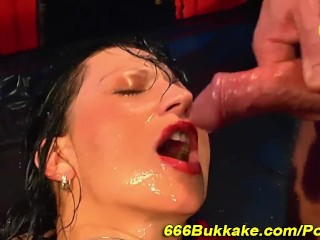 Golden piss shower girl