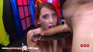 Nasty babes play with cum before swallowing - GermanGooGirls Cumpilation