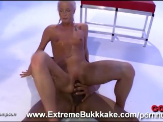 sweet blonde Lucy is a hardcore penis pleaser and jizz swallower
