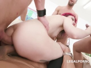 Sevenfold Anal Penetration! Poor Russian Girl Really Stretches!