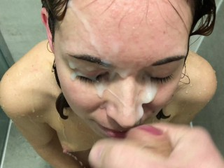Facial in the shower