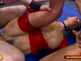 beautiful Elen Million getting nailed in the behind and in the mouth at the sam
