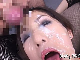 Group sex ends with bukkake