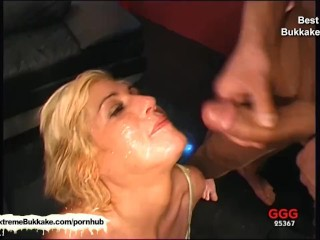 Compilation of the best bukkake bitches getting creamed with warm goo