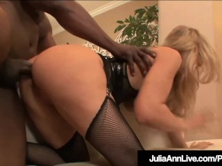 Milf Julia Ann Anal fucked & Facialed By 4 giant ebony dongs!