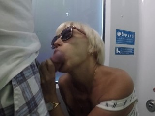 oral sex on the train. spunk on face.