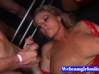 old Pierced yellow-haired Gets Multiple Cumshots