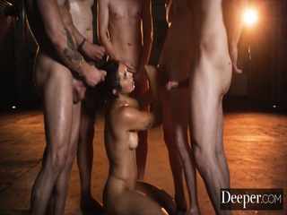 Deeper. Brooklyn Gray S Five cock Bukkake Fantasy