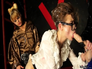 Jenna yummy And Barra Brass jizz Dominated By Strapped-up whores