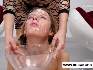 Timid young Rebecca gets Hardcore Facial in BTS - bukkakexxx.