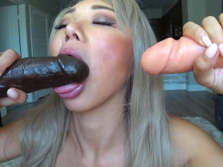 oriental gagging sloppy bj dildo bukkake
