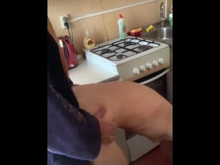poked in the kitchen butt friend's wife