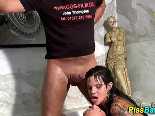 Piss soaked hos suck meat